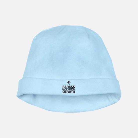 Badass Back Surgery Survivor Baby Hat