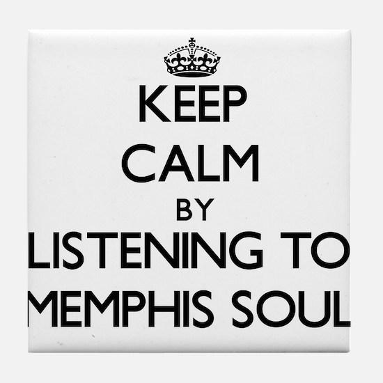 Cool Memphis radio Tile Coaster