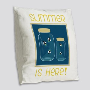 Summer Is Here! Burlap Throw Pillow