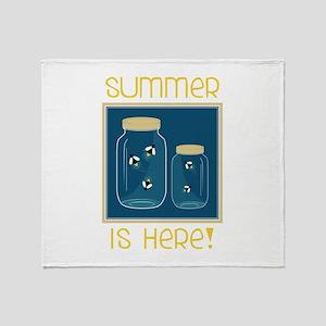 Summer Is Here! Throw Blanket