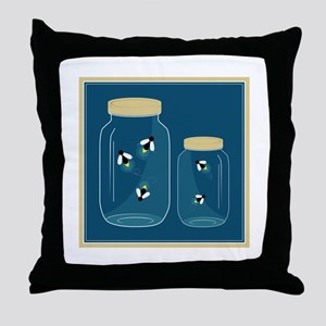 Fireflies Mason Jar Throw Pillow