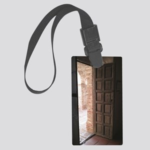 Old San Juan Capistrano Door Large Luggage Tag