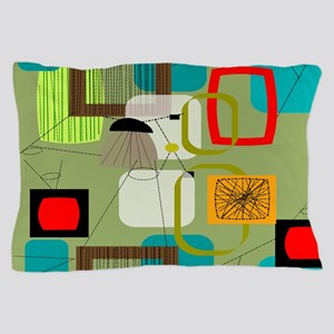 Mid-Century Modern Abstract Pillow Case