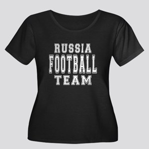 Russia F Women's Plus Size Scoop Neck Dark T-Shirt