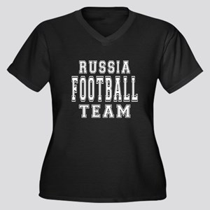 Russia Footb Women's Plus Size V-Neck Dark T-Shirt