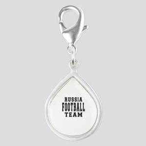 Russia Football Team Silver Teardrop Charm