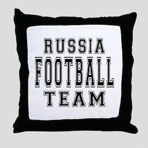 Russia Football Team Throw Pillow