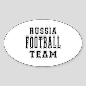 Russia Football Team Sticker (Oval)