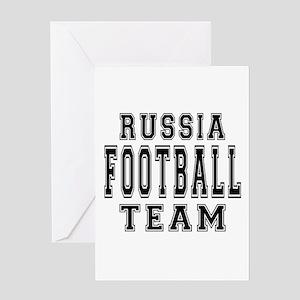 Russia Football Team Greeting Card