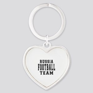 Russia Football Team Heart Keychain