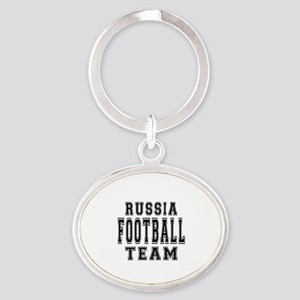 Russia Football Team Oval Keychain