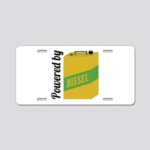 Powered By Diesel Aluminum License Plate