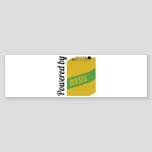 Powered By Diesel Bumper Sticker