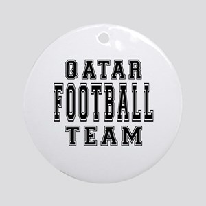 Qatar Football Team Ornament (Round)
