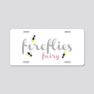 Fireflies Fairy Aluminum License Plate