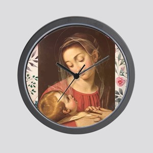 Divine Providence (floral) Wall Clock