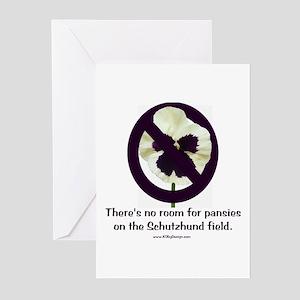 No Pansies Schutzhund Greeting Cards (Pk of 10