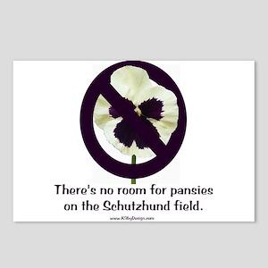 No Pansies Schutzhund Postcards (Package of 8)
