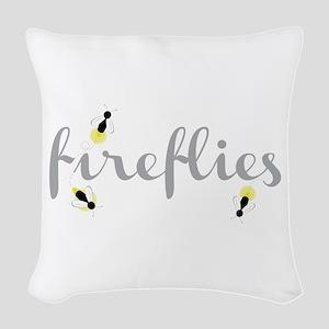 Fireflies Woven Throw Pillow