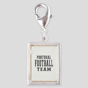 Portugal Football Team Silver Portrait Charm