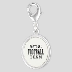 Portugal Football Team Silver Oval Charm