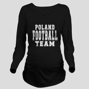 Poland Football Team Long Sleeve Maternity T-Shirt