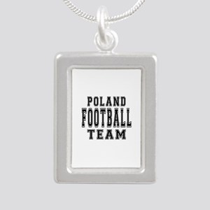 Poland Football Team Silver Portrait Necklace