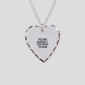 Poland Football Team Necklace Heart Charm