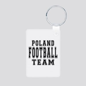 Poland Football Team Aluminum Photo Keychain