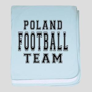 Poland Football Team baby blanket