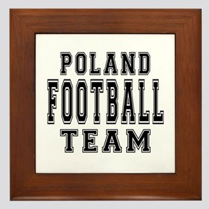 Poland Football Team Framed Tile