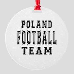 Poland Football Team Round Ornament