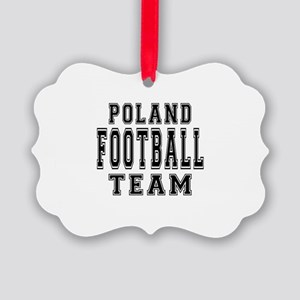 Poland Football Team Picture Ornament