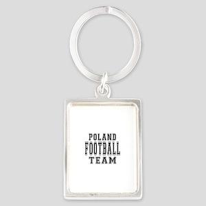 Poland Football Team Portrait Keychain