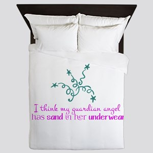 I think my guardian angel has sand in her underwea