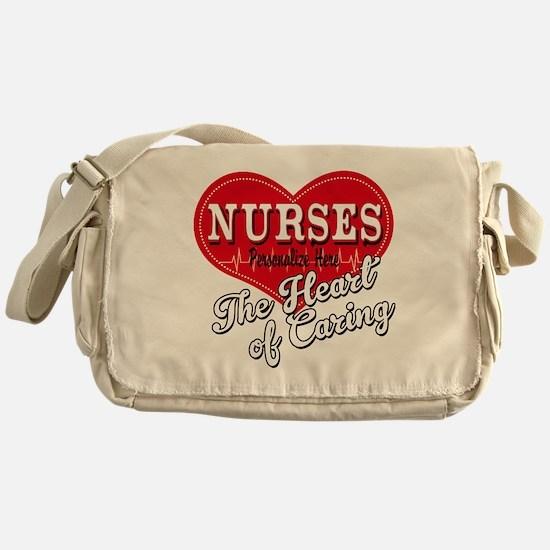 Nurse Caring Heart Messenger Bag