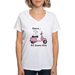 Evil Kitty PINK Women's V-Neck T-Shirt