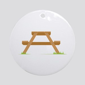Picnic Table Ornament (Round)