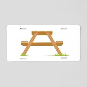 Picnic Table Aluminum License Plate