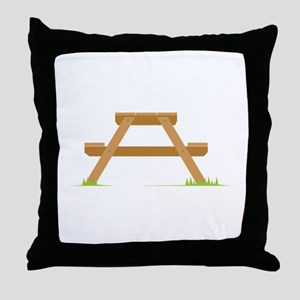Picnic Table Throw Pillow
