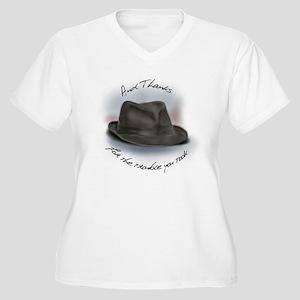 Hat for Leonard 1 Women's Plus Size V-Neck T-Shirt