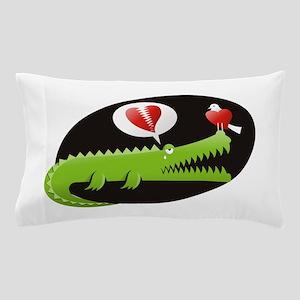 Alligator in Love Pillow Case