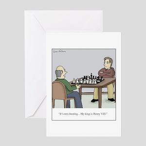 Chess like Henry VIII Greeting Card