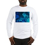 Brilliant Blues Fractal Long Sleeve T-Shirt