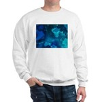 Brilliant Blues Fractal Sweatshirt