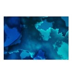 Brilliant Blues Fractal Postcards (Package of 8)