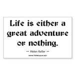 Life Adventure Rectangle Sticker