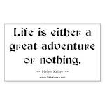 Life Adventure Rectangle Sticker