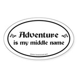 Middle Name Oval Sticker