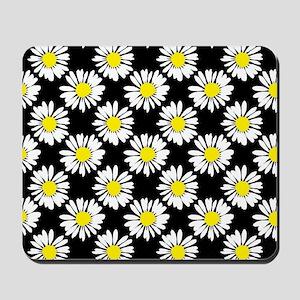Daisies - Black Mousepad